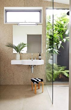 14 tips to help you maximise a small bathroom, You can turn a small space into a beautiful bathroom if you employ some clever trickery. Best Bathroom Tiles, Mold In Bathroom, Ensuite Bathrooms, Laundry In Bathroom, Small Bathroom, Bathroom Ideas, Large Format Tile, Armelle, Small Showers
