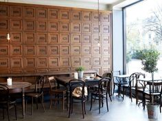 Wall, window, and lighting at United Bakeries – Oslo, Norway.