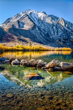 ~~Golden Shore, Convict Lake ~ crystal clear water, White Mountains, Mammoth Lakes, California by Greg Clure Photography~~