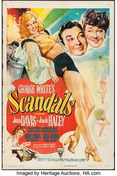 """Movie Posters:Comedy, George White's Scandals (RKO, 1945). One Sheet (27"""" X 41"""").Comedy.. ..."""