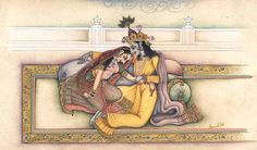 Krishna Dragging Radha to his Bosom