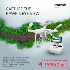 Whether you want to capture beautiful sunsets or your busy city, Drones allow you to capture the perfect picture. Rent the DJI drone, and get a birds-eye view with HD Ultra Video! Thinking of Renting. Think of Rentickle! Dji Drone, Drones, Busy City, Dji Phantom, 4k Hd, Renting, Drone Photography, Beautiful Sunset, Sunsets