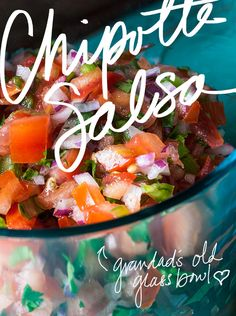 Who likes Chipotle? Here is their salsa recipe! Also, make some rice with lime and cilantro and in no time you will have your very own Chipotle burrito in your very own kitchen for half the price! Chipotle Pico De Gallo Salsa Recipe - Lexie's Kitchen | Gluten-Free Dairy-Free Egg-Free.