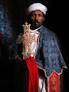 Priest in Lalibela (Known for the famous rock-hewn churches), Ethiopia