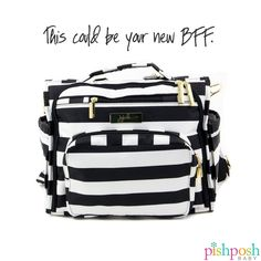 Ju-Ju-Be's BFF bag does what any BFF would do - backs you up when you need help the most. Be that mom who seems to have EVERYTHING in her bag. More than a dozen colors to choose from! (shown: Jujube BFF in The First Lady) Shop our entire Jujube collection on our site!   http://www.pishposhbaby.com/ju-ju-be-bff.html