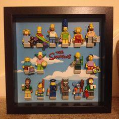 Simpsons Red Script Lego Minifigure Display by StickaBrickFrameCo Mais X 23, Lego Minifigure Display, Lego Simpsons, Best Lego Sets, Superhero Wall Art, Cool Lego, Display Case, Legos, Fabric Flowers