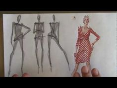Discover how to sketch a figure and bring your designs to life with the help of sewstylish contributor and fashion illustrator yelen ayé. Fashion Illustration Tutorial, Illustration Mode, Design Illustrations, Fashion Illustrations, Fashion Design Drawings, Fashion Sketches, Dress Sketches, Drawing Fashion, Fashion Figures