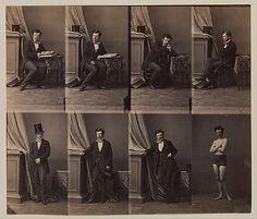 Adolphe Disdéri inventou um mecanismo que permitia realizar várias fotografias na mesma chapa. Nasceu assim o retrato cartão de visita.  Prince Lobkowitz André-Adolphe-Eugène Disdéri, 1858