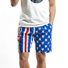 American flag 2017 Summer Style Men Beach Shorts Brand Quick Drying pants Male Short Pants Board MAPP04061