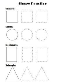 Shape Practice Worksheet for Kindergarten: