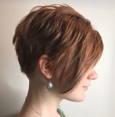 Layered Pixie With Long Side Bangs