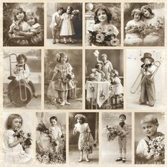 Éphémères Vintage, Decoupage Vintage, Vintage Ephemera, Vintage Cards, Vintage Paper, Vintage Postcards, Vintage Prints, Vintage Ladies, Antique Photos