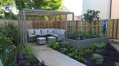 Composite decking for beautiful outdoor spaces. Browse TimberTech's range of low-maintenance composite decking boards. Outdoor Spaces, Outdoor Living, Outdoor Decor, Timbertech Decking, Flower Fence, Composite Decking, Backyard, Patio, Garden Spaces