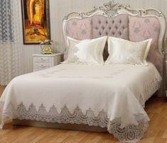 Dizayn by Lara Home 😘 Duvet Bedding, Comforter Sets, Home Bedroom, Bedroom Decor, Cute Cushions, Manta Crochet, Comfy Bed, Bedroom Colors, Bed Covers