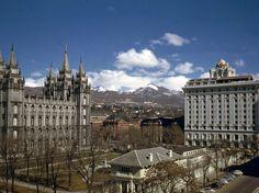 Salt Lake City Utah, 1940s, Louvre, Explore, Street, Building, Travel, Vintage, Viajes