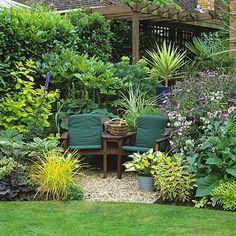 Garten Terrasse Wohnideen Möbel Dekoration Decoration Living Idea Interiors home garden - Gemütliche Sitzecke für zwei