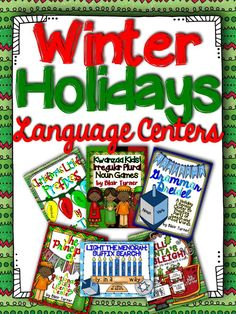 This is a bundled set of 6 literacy centers, aligned with CCSS Language standards, perfect for the holiday season! There are 2 Christmas centers, 2 Hanukkah centers, and 2 Kwanzaa centers. $