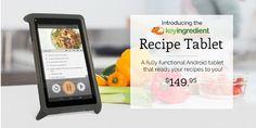 Kitchen Tablet Heat Safe: Key Ingredient Recipe Tablet