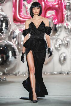 "Lena Hoschek AW 17/18 ""DOLLHOUSE"" Runway ""Hollywood Couture Dress, black"""