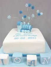 boys christening cake ideas
