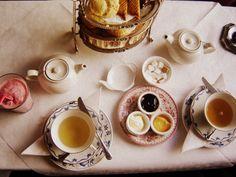 To eat the perfect little breakfast every morning...un cafe au lait et un croissant, s'il vous plais
