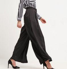 YAS YASYOKO czarne Spodnie materiałowe black