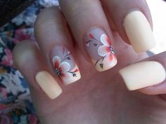 ▷ 1001 + ideas for cute nail designs you can rock this summer – - Beauty New Flower Nail Designs, Nail Designs Spring, Cute Nail Designs, Nails With Flower Design, Cute Spring Nails, Summer Nails, Cute Nails, Tropical Flower Nails, Cream Flowers