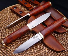 Leather Bushcrafter by Vehement Knives Find our speedloader now!  http://www.amazon.com/shops/raeind