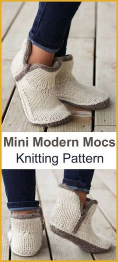 Mini Modern Mocs – Knitting Pattern The Effective Pictures We Offer You About Knitting projects A quality picture can tell you many things. How To Start Knitting, Easy Knitting, Loom Knitting, Knitting Socks, Knitting Needles, Knitting Patterns Free, Knit Patterns, Vintage Patterns, Knit Socks