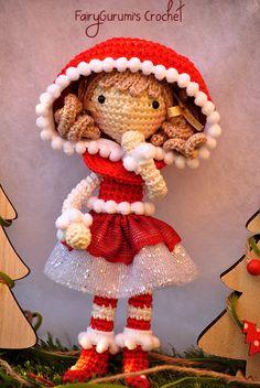 Amigurumi - Zelia Christmas doll - tutorial by FairyGurumi's Crochet