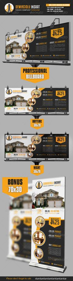 Real Estate Business Billboard Template #design Download: http://graphicriver.net/item/real-estate-business-billboard/3192543?ref=ksioks