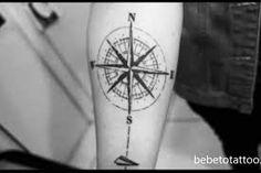 Resultado de imagem para rosa dos ventos tatuagem