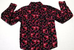 Cowgirl Hardware Girls Pink Sparkle Floral Western Long Sleeve Snap Shirt XS  #CowgirlHardware #DressyEveryday