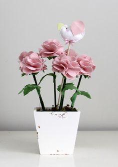 Vaso de flores de feltro