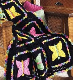 Free Crochet Pattern For Butterfly Baby Blanket : 1000+ images about chrochet afghans on Pinterest Crochet ...