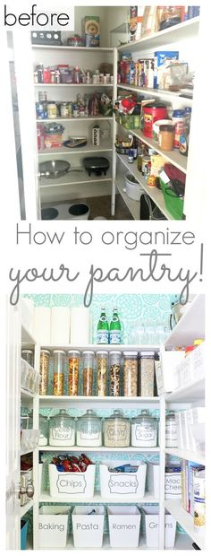 How to organize your pantry – Tons of tips and ideas for organizing and decorating your pantry! – www.classyclutter…