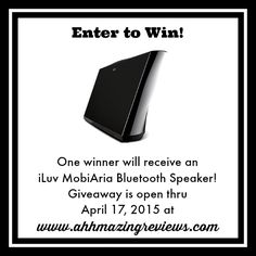 Enter to win a MobiAria Bluetooth Speaker from @iluvcreative and @ahhmazingrvws on ahhmazingreviews.com!