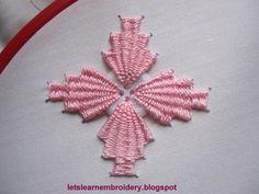 Let's learn embroidery: Button kamal kadai