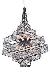 Buy 240P06SL Varaluz Flow 6-Lt Twist Pendant - In Steel From LightingOriginals.ca