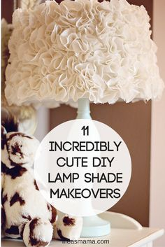Are you tired of your boring generic lamps, but don't want to spend a lot of money on buying new, fancy ones? Well, why not do a little lamp shade make over? You can easily transform the look of your lamp by spicing up the lampshade. It doesn't have to cost a lot of money and the best part is that it's completely custom, and will look so unique in your home.
