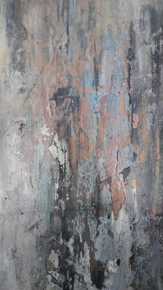 Modern Abstract Minimalist Painting Neutral Gray and Gold