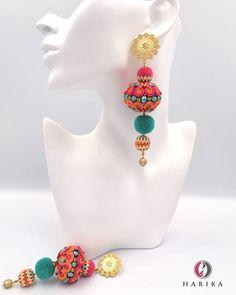 Shibori, Soutache Earrings, Jewellery, Beads, Fashion, Crown Headband, Beading, Head Bands, Ears