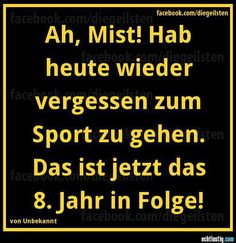 Vergessen zum Sport zu gehen