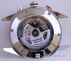 Calibre 16 from TAG Heuer- this photo shows the caseback on the Day-Date Chronograph