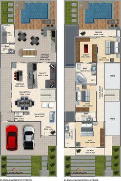 Pinterest: @claudiagabg | Townhouse 2 pisos 3 cuartos 1 sala de tv