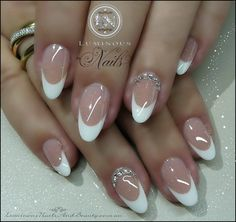 . Gorgeous Nails, Pretty Nails, Diy Rings, French Nails, Nail Art, Oval Shape, Almond, Favorite Things, Babies
