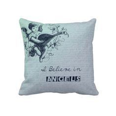 Believe in Angels Throw Pillows