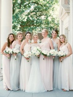 Soft Ethereal & Pretty Dallas Wedding from Sarah Kate - bridesmaid dresses