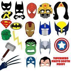 superhero-crafts-activities-ideas-for-kids - Superhero Crafts Batman Party, Superhero Birthday Party, 4th Birthday Parties, Boy Birthday, Avenger Party, Superhero Photo Booth, Photo Booth Props, Animation Photo, Baymax
