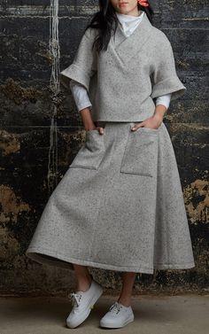 Wool Melange Pocktail Skirt by Rosie Assoulin for Preorder on Moda Operandi